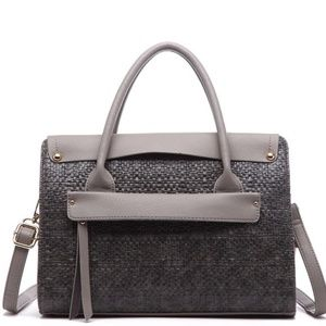 Albany Weave Front Pocket Tote by Pink Haley NEW